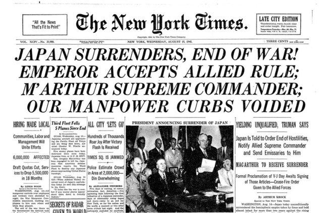Fin de la Segunda Guerra Mundial  en Asia