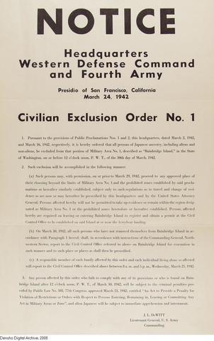 Exclusion Order No.1
