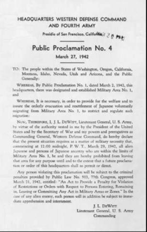 Proclamation No.4