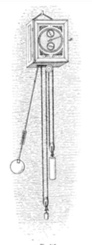 Clock with a pendulum