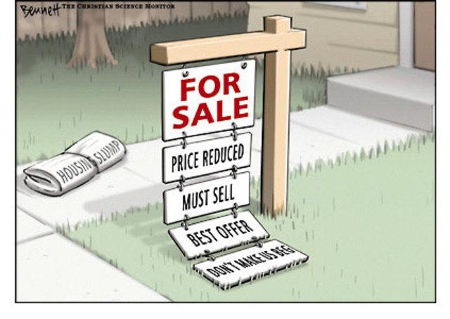 Caída de precios de viviendas
