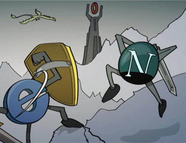 Создание Netscape и Internet Explorer