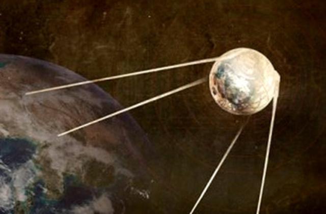 Запуск советского спутника
