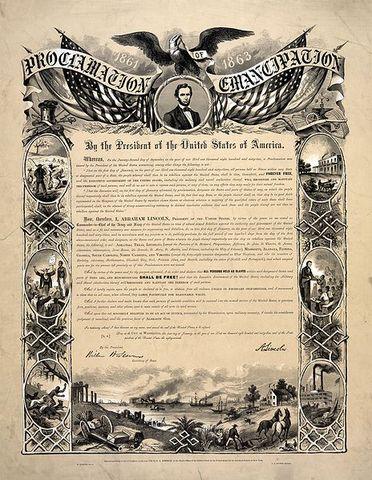 Emancipation Proclamation Given