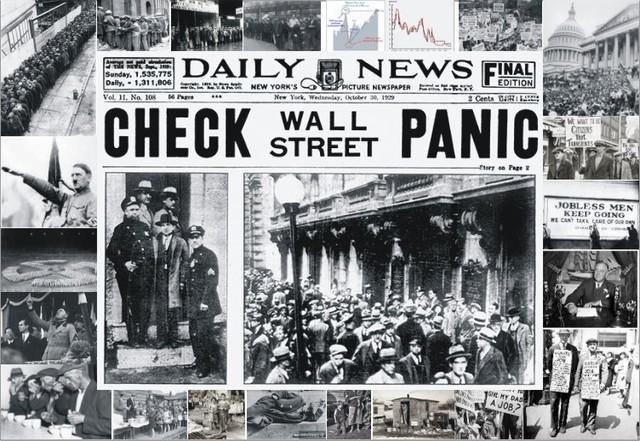 1929-1933 годы - время Великой депрессии (Черный Четверг)