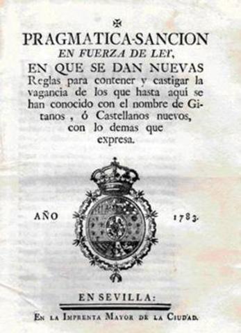 Publicación de la Pragmática Sanción de 1879.