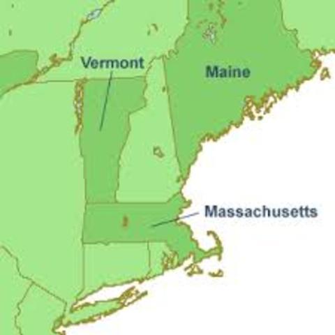 Massachusetts and Maine Separated