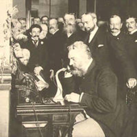 Alexander Graham Bell Demonstrated First Telephone