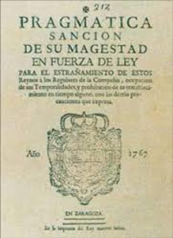 Publicación de la pragmática sanción.