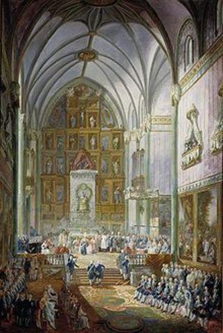 Publicación de la Pragmática Sanción de 1789.