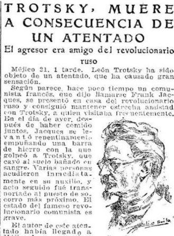 Muere León Trotsky.