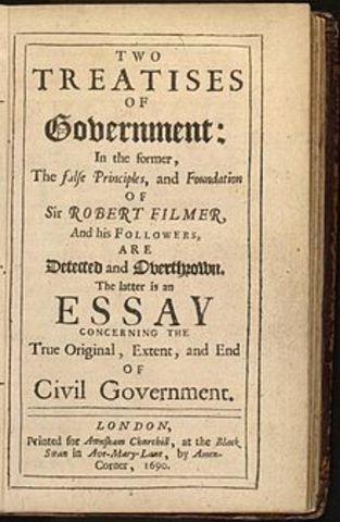 John Locke publish Two Treatises of Government