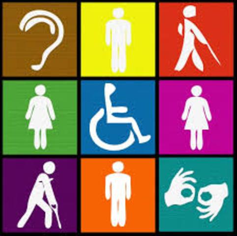 Normalización a personas discapacitadas.