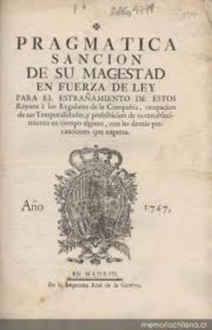 Publicación de la Pragmática Sanción de 1789