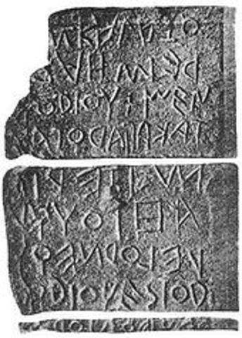 509 AC. Grecia roma, tablas de madera pintadas.