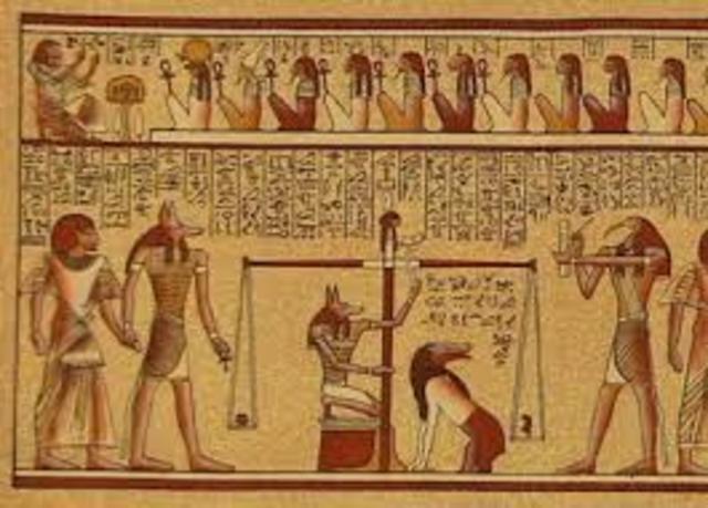1530 DC. Egipto, utilización del papiro