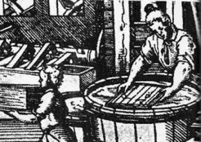 1590 DC. Uso del papel