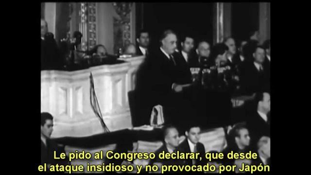 EE.UU. declara la guerra Japón.