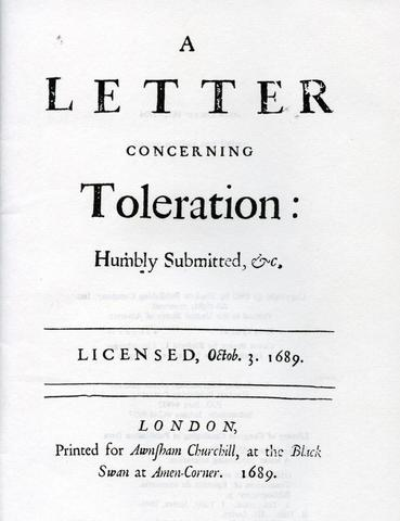 Three Letters Concerning Toleration