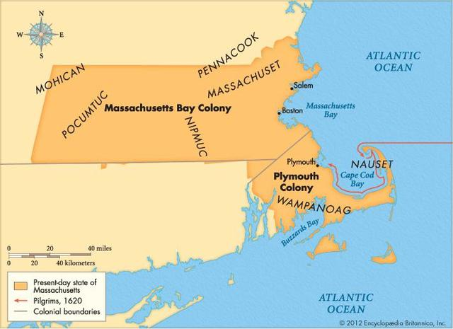 Puritans settle in Massachusttes