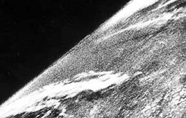 The First Photo In Space