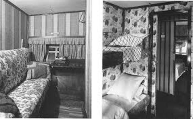 As primeiras cabines de um Zeppelin