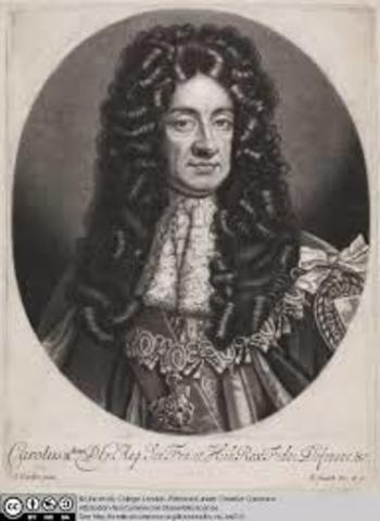 Charles II gave large tracks of land