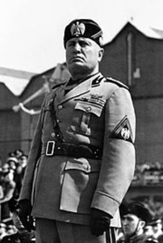 Mussolini becomes leader in Italy