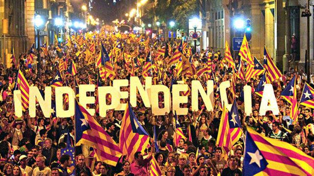 Primera manifestació per l'Independència