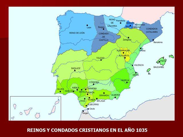 La Península Ibérica en el año 1035