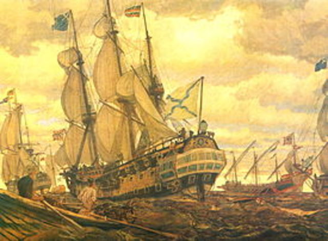 Peter the Great founded the first Russian Navy base