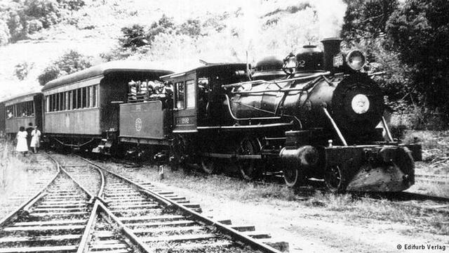 Ferroviário - Inauguração da primeira linha ferroviária do Brasil