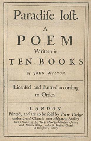 c.1658 John Milton begins Paradise Lost