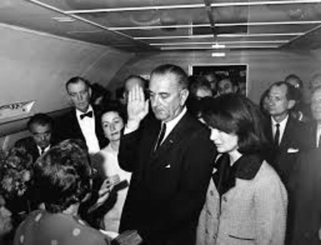 Vietnam- Johnson becomes president