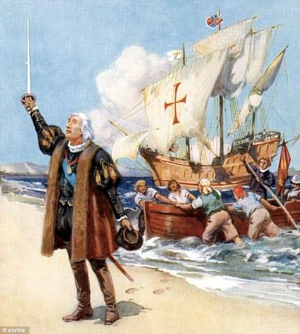 Christopher Columbus reaches the Americas