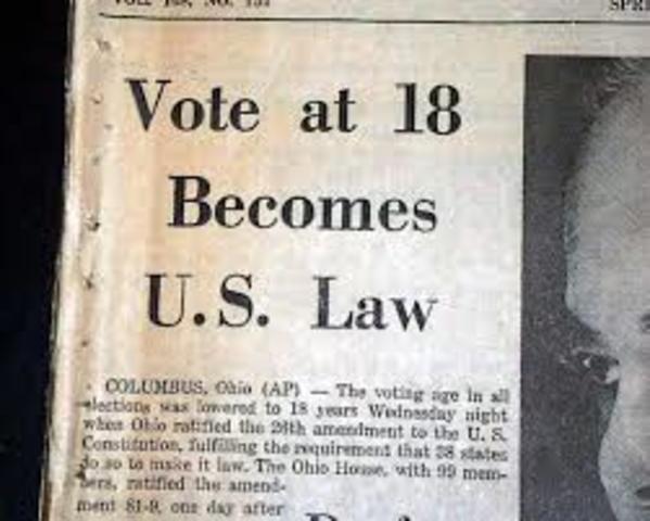 26th Amendment is passed