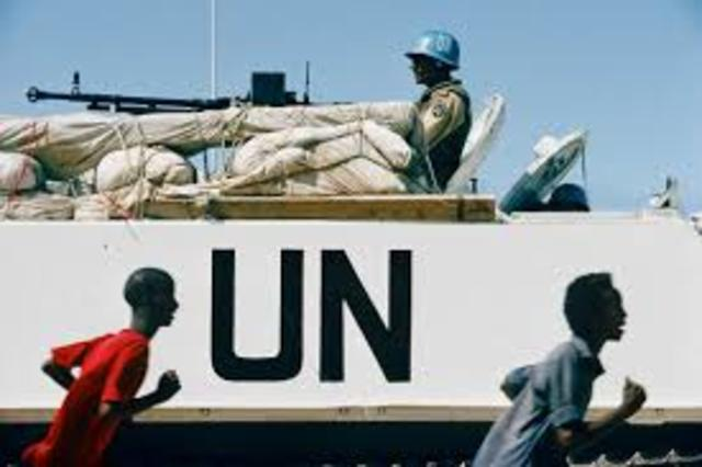 UN peacekeepers leave