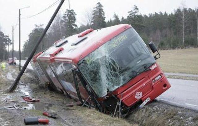 Buss olycka
