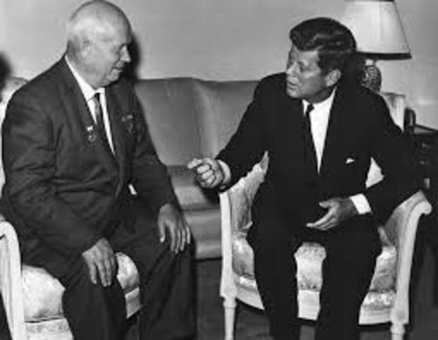 President Kennedy meets with Nikita Khrushchev in Vienna