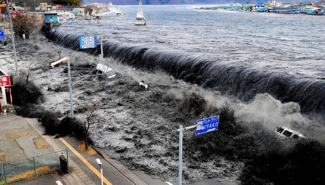 Tsunami a Japó.