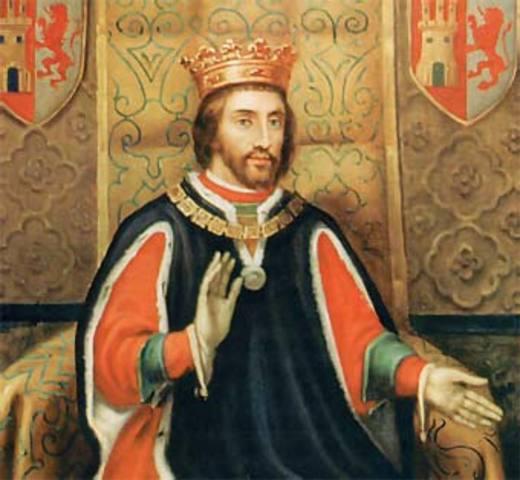 Hereda el trono de Castilla y León Alfonso XI