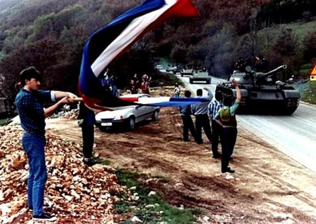 Inicio de las Guerras yugoslavas en Eslovenia