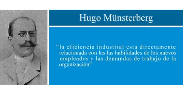 Hugo Münsterberg-Psicología industrial
