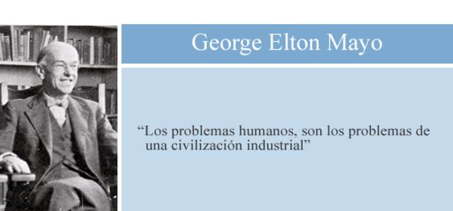 George Elton Mayo-Efecto Hawthorne