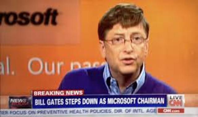 Bill steps down for microsoft chairman!