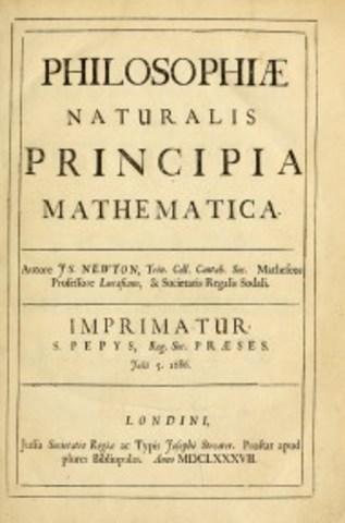 Newton's publication of the Principia Mathematica