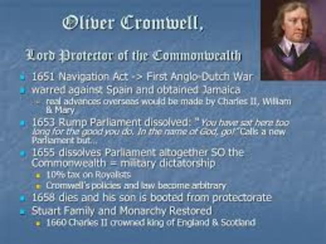 Oliver Cromwell's Navigation Acts