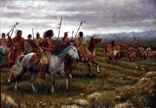 The expedition Vs. the Blackfeet