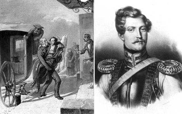 А.С.Пушкин вызвал на дуэль французского офицера Жоржа Дантеса.