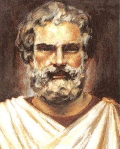 Tales de Mileto describe el comportamiento de la magnetita.